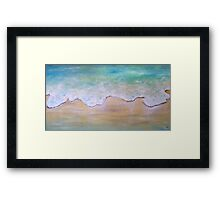 Tide And Motion Framed Print