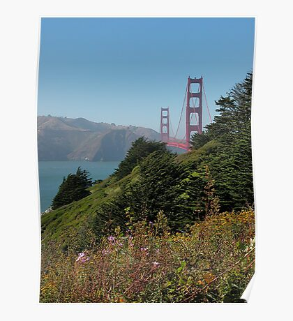Golden Gate from the Park Poster