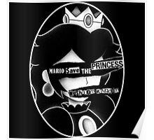 Mario save the princess Poster