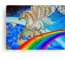 Rainbow Runner Canvas Print