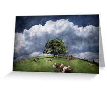 15 cows on the meadow Greeting Card