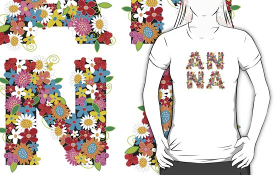 Spring Flowers ANNA T-shirt by fatfatin