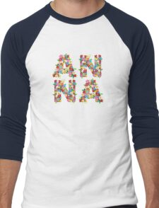 Spring Flowers ANNA Men's Baseball ¾ T-Shirt