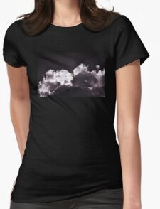 Purple Clouds Womens Fitted T-Shirt