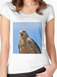Yellow Billed Kite - Calling all Friends Women's Fitted Scoop T-Shirt