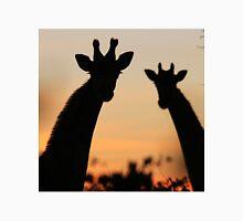 Giraffe Sunset - African Wildlife - Peaceful Tranquility Unisex T-Shirt