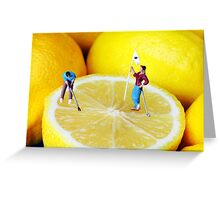 Golf Game On Lemons Greeting Card
