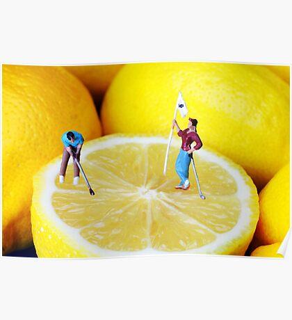 Golf Game On Lemons Poster