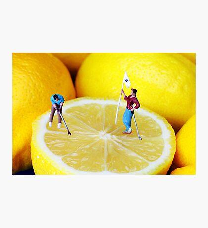 Golf Game On Lemons Photographic Print
