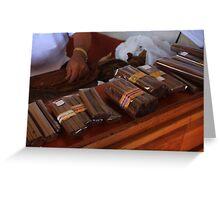 Cuban Cigars Greeting Card