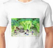 Camping Among Broccoli Jungles Unisex T-Shirt