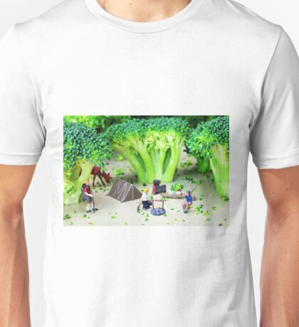 Camping Among Broccoli Jungles Unisex T-Shirt