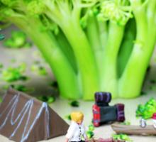 Camping Among Broccoli Jungles Sticker