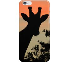 Giraffe Sunset - African Wildlife - Majestic Peace iPhone Case/Skin