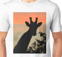 Giraffe Sunset - African Wildlife - Majestic Peace Unisex T-Shirt