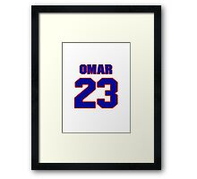 National football player Omar Stoutmire jersey 23 Framed Print