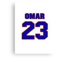 National football player Omar Stoutmire jersey 23 Canvas Print