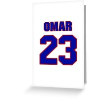 National football player Omar Stoutmire jersey 23 Greeting Card
