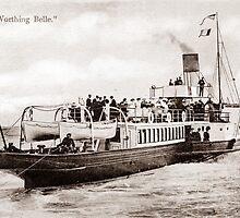 The Worthing Belle, Paddle Steamer. by CentenaryImages