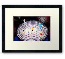 Running On Red Onion Framed Print