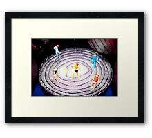 Running On Red Onion Framed Print