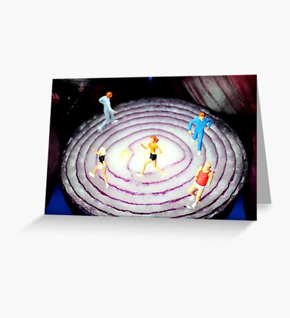 Running On Red Onion Greeting Card