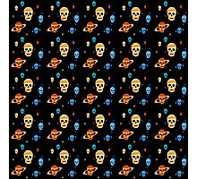 Skull Planets pattern Photographic Print