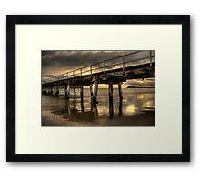 Golden Causeway Framed Print