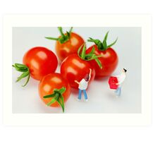 Chefs And Cherry Tomatoes Art Print