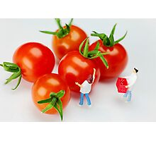 Chefs And Cherry Tomatoes Photographic Print