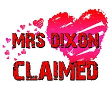 The Walking Dead - Mrs Dixon Claimed Photographic Print