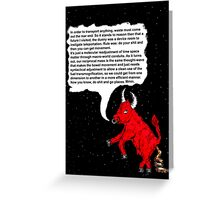 Teleportation devices Greeting Card
