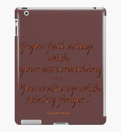 Chinese Proverb iPad Case/Skin