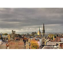 Looking West from Oxfords North Gate Tower II Photographic Print