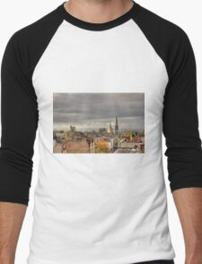 Looking West from Oxfords North Gate Tower II Men's Baseball ¾ T-Shirt