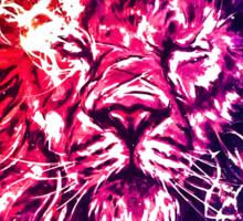 Lion Sun Sticker