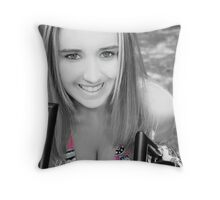 Headshot Black/White Throw Pillow