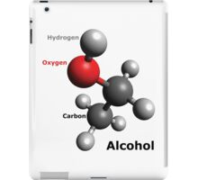Alcohol Molecule - Drink up! iPad Case/Skin