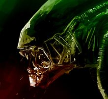 Alien Headshot by Cleanlined