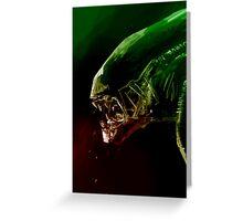 Alien Headshot Greeting Card