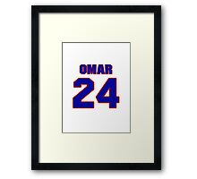 National football player Omar Stoutmire jersey 24 Framed Print