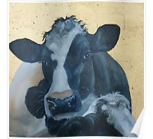 Lean on Me --- Cow Portraits Poster