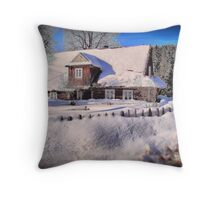 Sunny day after a snow storm  Throw Pillow