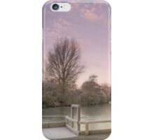 Frosted Sunrise St James Lake Brackley iPhone Case/Skin