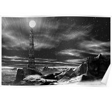 Lighthouse at Graka-Trok Poster