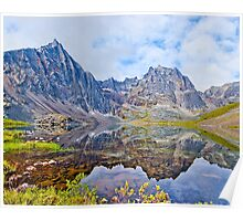 Tombstone Mountains and Grizzly Lake Poster