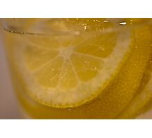Lemon slices  Photographic Print