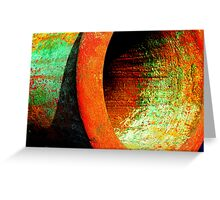 Fight of the rusty colors Greeting Card