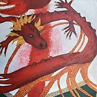 Red Dragon painting by Oruala