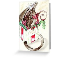 the little red nose dragon Greeting Card